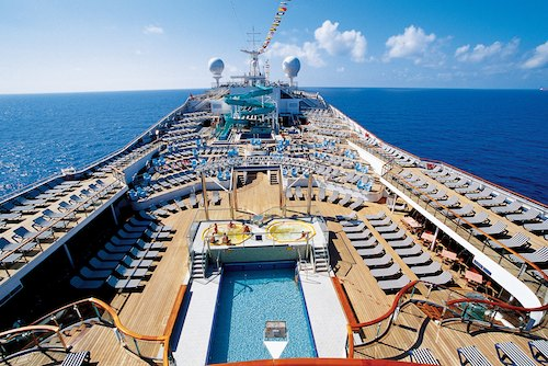 Carnival Conquest Pool Water Slide And Sunbathing Information