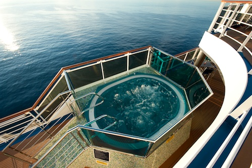 carnival dream pool water slide and sunbathing information